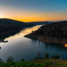 ALDEIA DO MATO by Edu Marques - Landscapes Waterscapes ( reflection, sunset, reflections, rivers, river )