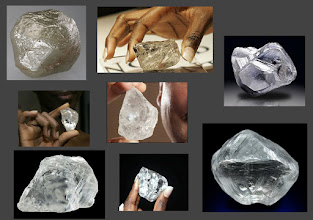 Photo: Uncut raw diamonds. They are not used as it is but cut into many smaller stones.  Think of this as your uncropped photograph.