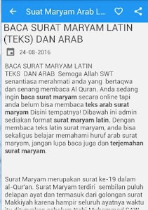 Unduh Surat Maryam Arab Latin Apk Versi Terbaru 240 Untuk