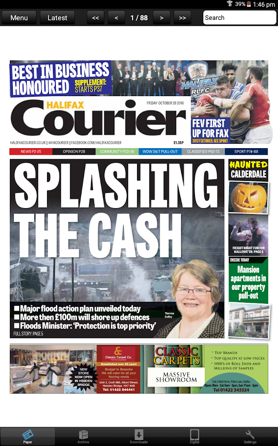 The Halifax Courier Newspaper- screenshot