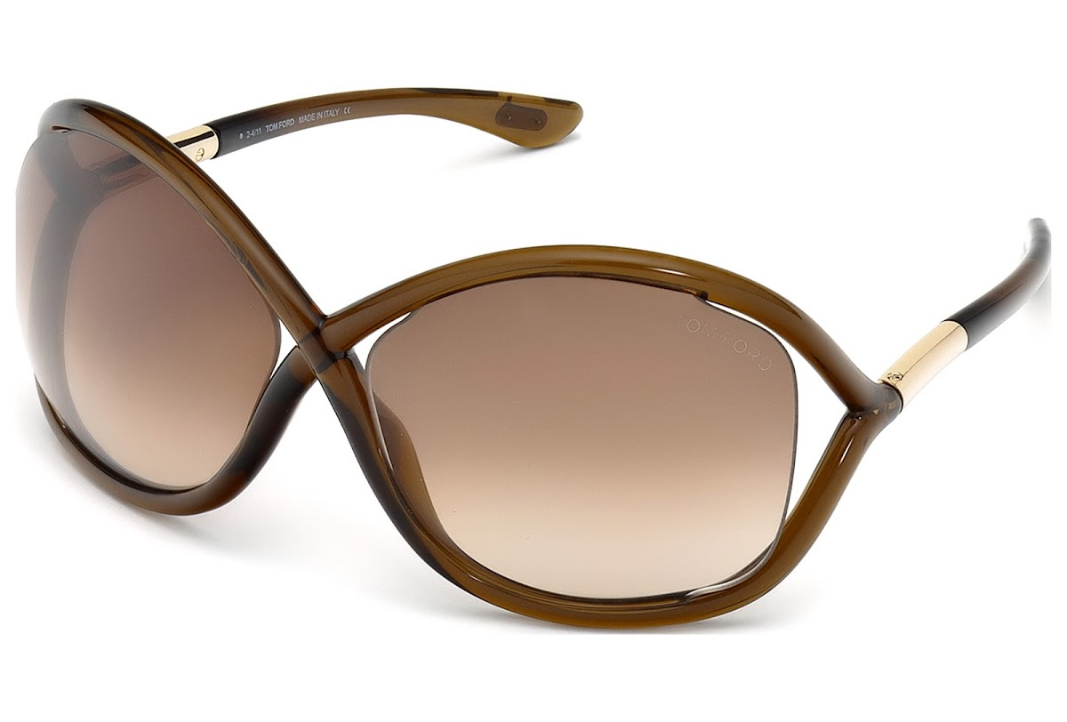defba57a9517a Sunglasses Tom Ford Whitney FT0009 C64 692 (shiny dark brown   gradient  brown)