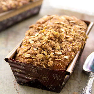 Eggnog Pumpkin Bread With Cinnamon Streusel