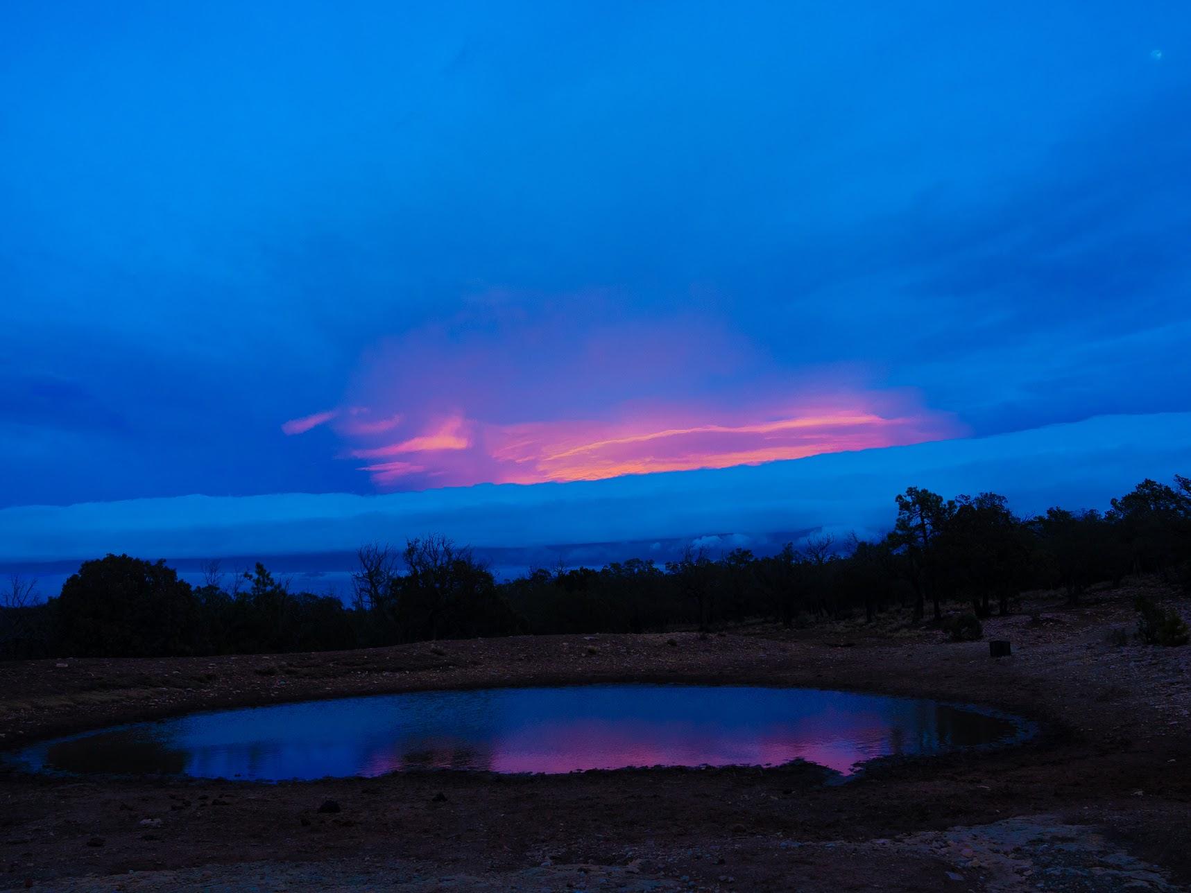 Holy pond sunset
