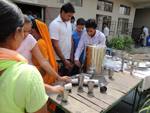 Photo: Between sessions we would take a break for Indian tea (very delicious).