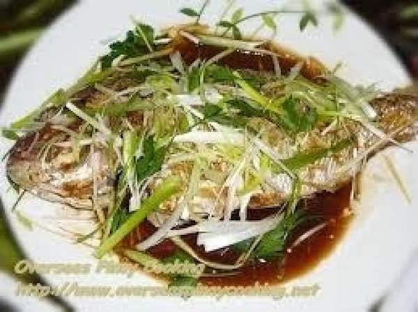 Asian Steamed Fish From  The Mainland China. Recipe