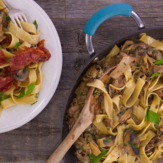 Pappardelle with Marsala Mushroom Sauce and Crispy Prosciutto