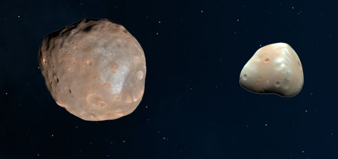 Moons of Mars, Phobos and Deimos
