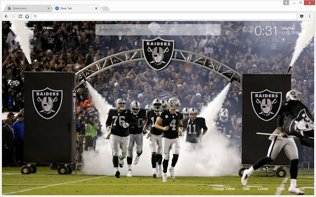 Nfl oakland raiders hd fanmade new tab themes chrome web store runs offline voltagebd Choice Image