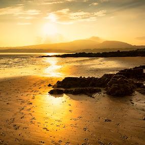 Fleet Bay by James Johnstone - Landscapes Waterscapes ( sunset, fleet bay, sandgreen,  )