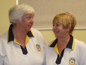 Photo: Runners Up in Ladies Pairs and still Happy! Chris Bruce & Eunice Hargreaves