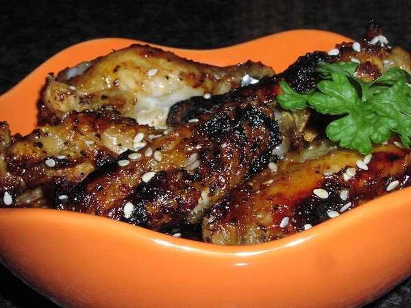 Chili-glazed Chicken Wings With Toasted Sesame See Recipe