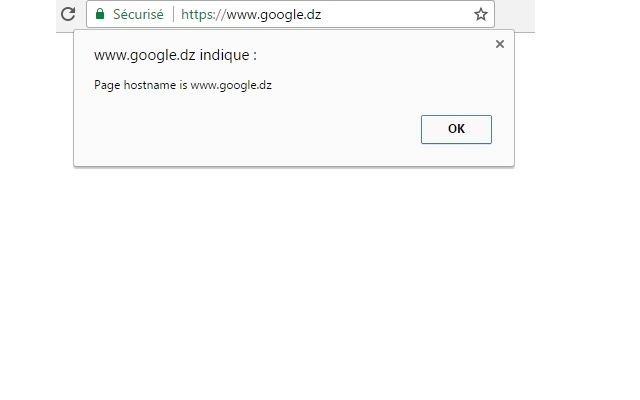 Page hostname