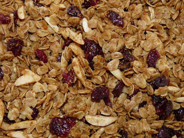 In a bowl, mix wheat germ, oats, and nuts. Pour sugar mixture over and...