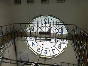 Photo: View of one clock face from above