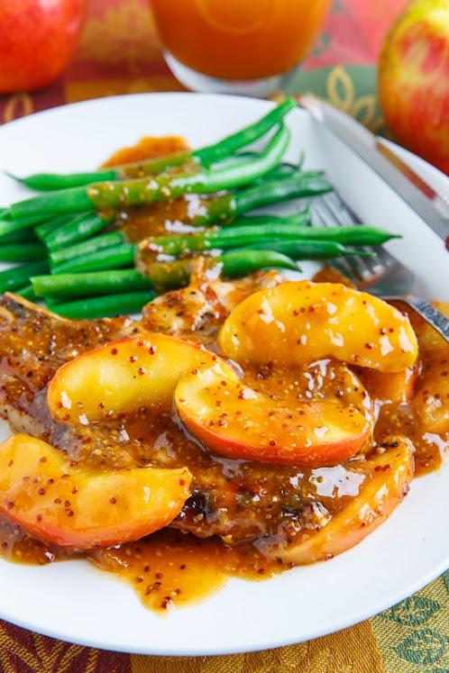 Maple Dijon Apple Cider Grilled Pork Chops