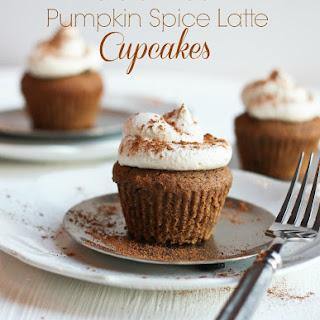 Gluten-free Pumpkin Spice Latte Cupcakes.