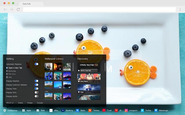 Orange Pop Wallpaper HD Fruit New Tab Theme
