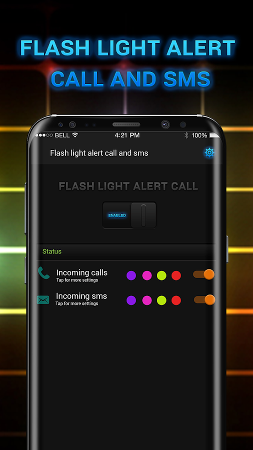 Color Flashlight Alerts Call, LED Torch- screenshot