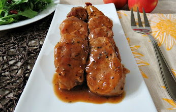 Photo: Apple Maple Glazed Pork Tenderloin - A quick and easy, sweet and savory pork tenderloin with an apple cider and maple syrup glaze.  http://www.peanutbutterandpeppers.com/2012/11/21/apple-maple-glazed-pork-tenderloin/  #pork   #applecider   #maplesyrup   #fallrecipes   #porktenderloin