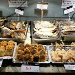 grilled and fried seafood at addiction fish market in Taipei in Taipei, T'ai-pei county, Taiwan