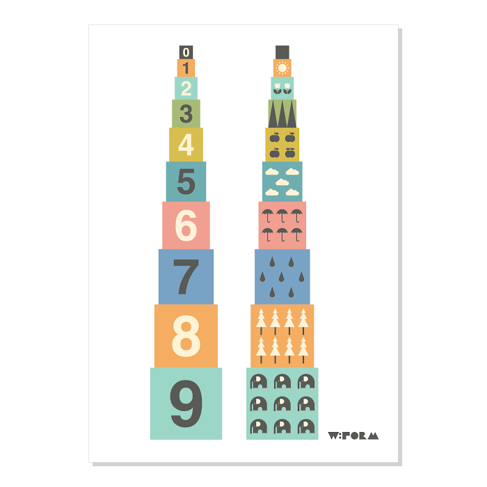 W:FORM Poster Multicolor Numbers