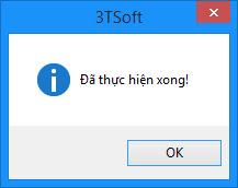 Thực hiện xong cài đặt 3TSoft