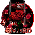 Red rose Glass Theme