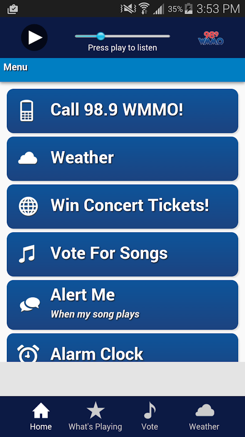 98.9 WMMO- screenshot