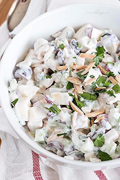 Chicken, Apple & Grape Salad With Creamy Dressing Recipe