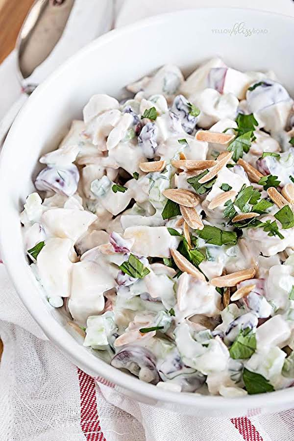 Chicken, Apple & Grape Salad With Creamy Dressing Recipe