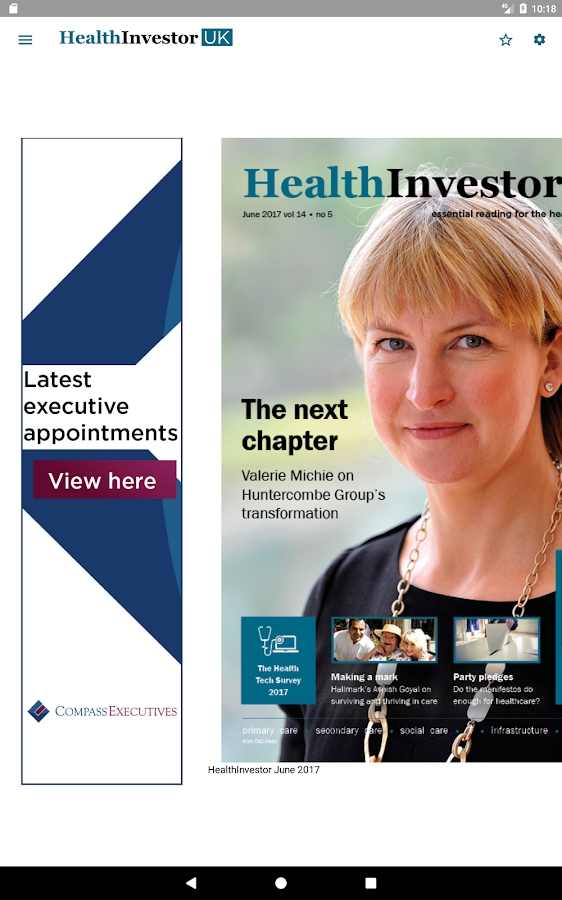 HealthInvestor UK- screenshot