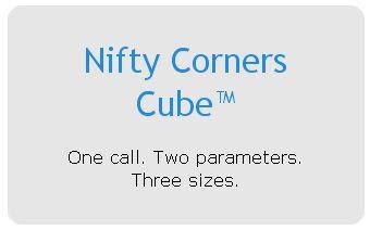 JavaScriptで角丸を実現している「Nifty Corners Cube」