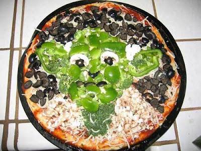 ヨーダの顔のピザ