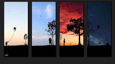 人生を表現した4枚の写真