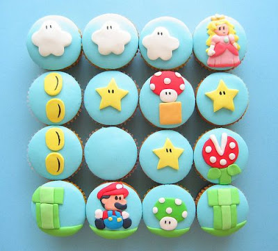 Super Mmario & Pacman Cupcakes