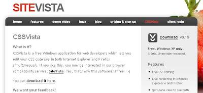 FirefoxとIEのCSSの違いをリアルタイムで表示してくれる「CSSVista」
