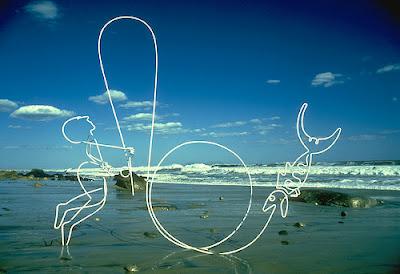 きれいな線を使ったアート