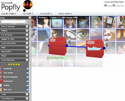MSマッシュアップ用ツールサービス「Popfly」を使ってみた