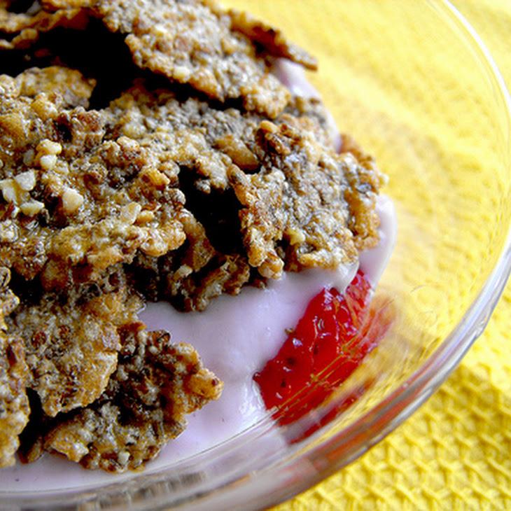 Breakfast Strawberry, Yogurt, and Cereal Bowl Recipe