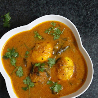 South Indian Egg Curry.