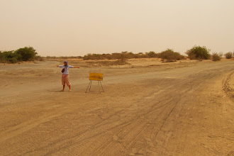 Photo: Which way???? Lost in Mauritanian desert.