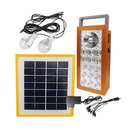 Kit lampa LED cu panou solar 1+15 LED SMD, USB, 2 becuri