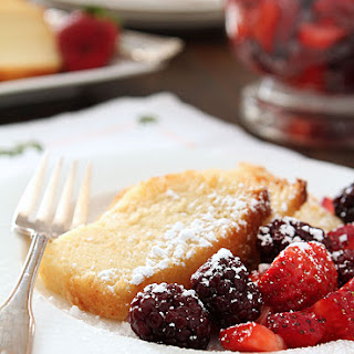 Ricotta Pound Cake with Fresh Berries.