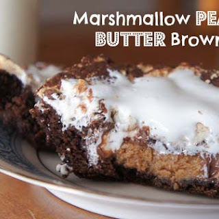 Marshmallow Peanut Butter Brownies.