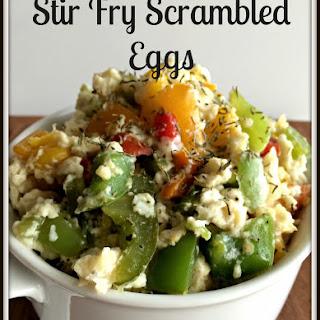 Stir Fry Scrambled Eggs.