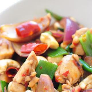 Thai Stir-Fry Chicken With Cashew Nuts.