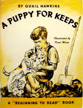 Photo: A Puppy For Keeps.  Quail Hawkins (author), Holiday House, 1943.