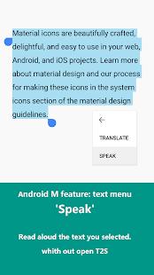 T2S:hlasitého čtení textu - náhled
