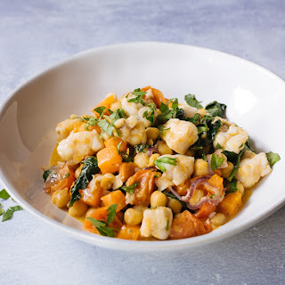 Moroccan Chickpea & Monkfish Stew With Sweet Potato