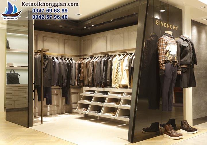 thiết kế shop thời trang nam sang trọng, lịch lãm